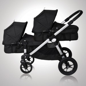 Baby Jogger CITY SELECT Double - wersja głęboko-spacerowa -  (onyx, charcoal)